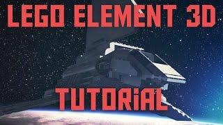 LEGO Element 3D tutorial - Space Scene