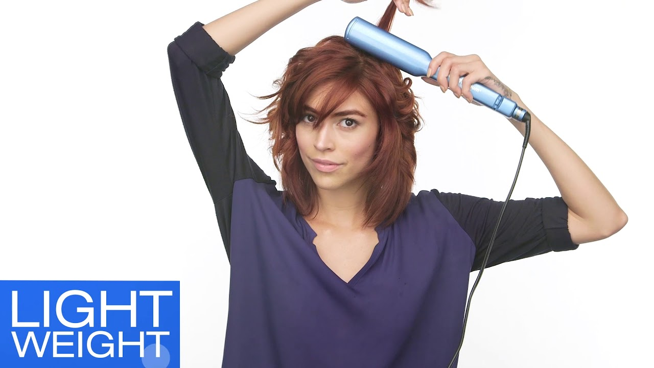BaBylissPRO Nano Titanium C-Styler and Aquage Beyond Body Thermal Sealing Spray for Perfect Texture.