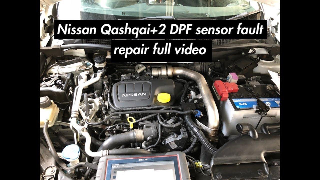 Nissan Qashqai / Qashqai+2 DPF sensor diagnostic repair R9M P2002 P1525