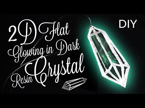Glowing in dark Resin Crystals 2D necklace DIY