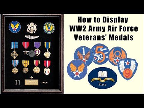 Army Air Force  World War II Veterans' Military Medal Displays