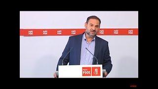 Rueda de prensa de José Luis Ábalos en Valencia