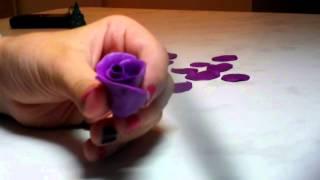 """Как сделать розу из пластилина! """"Видео урок"""""""
