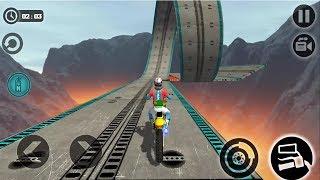 Impossible Motor Bike Tracks HIGH SPEED 3D New Motor Bike Unlocked - Android GamePlay 2017