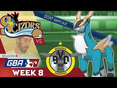 "GBA S8W8 Philadelphia Scizors vs Borussia Donphan ""Goat vs G.O.A.T."""
