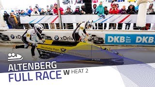Altenberg | BMW IBSF World Cup 2017/2018 - Women's Bobsleigh Heat 2 | IBSF Official