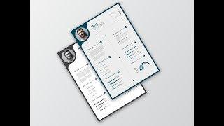 Creative CV/Resume Design in Adobe Illustrator CC