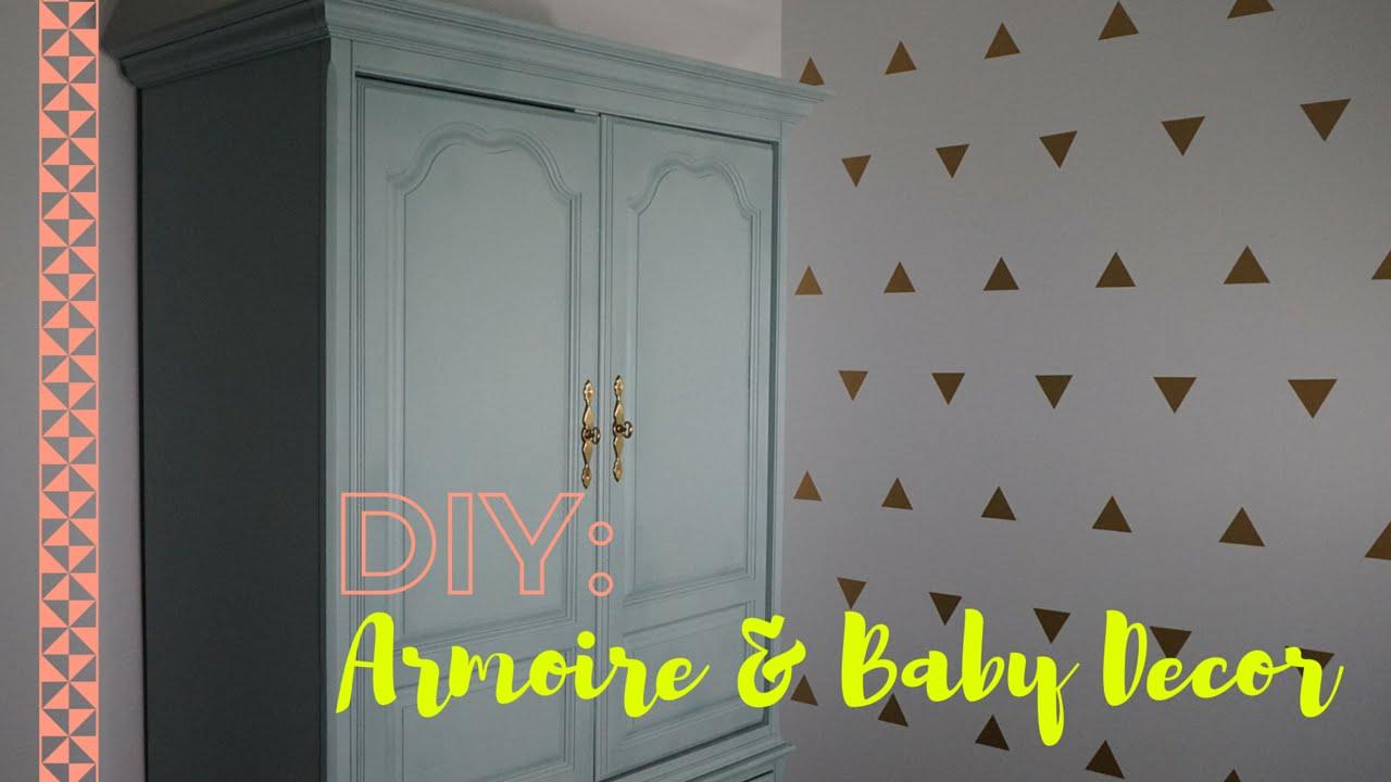 DIY: Refurbished Armoire U0026 Baby Room Decor   Viktoriya Cole   YouTube