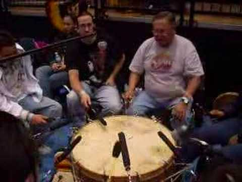 Earl Bullhead honor song Brookings pow wow 2008