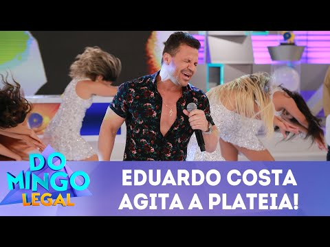 Eduardo Costa agita a plateia! | Domingo Legal (20/05/18)