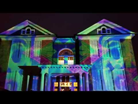 Arlington Arts Center Projection Colores