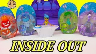 Disney Pixar Inside Out Glow JOY FEAR DISGUST SADNESS ANGER Dolls - Toy Unboxing Video Cookieswirlc
