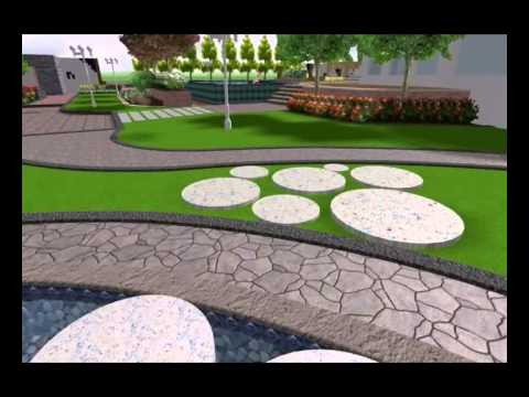 Villa landscape design sample youtube for Landscape villa design