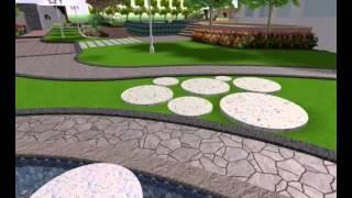 villa landscape design sample