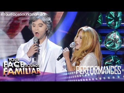 Your Face Sounds Familiar: Sam Concepcion And Jolina Magdangal As Andrea Bocelli And Celine Dion