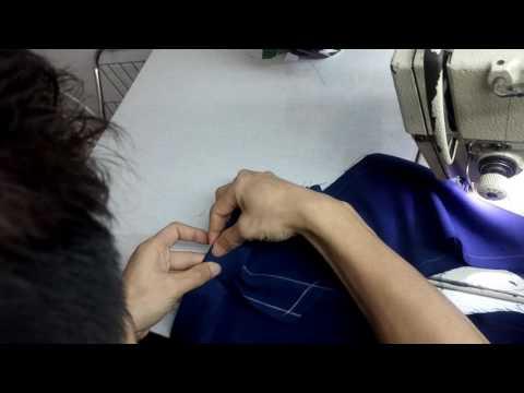 Cách May Xẻ Cửa Tay áo Vest Nam _ Hướng Dẫn May Xẻ áo Vest Nam