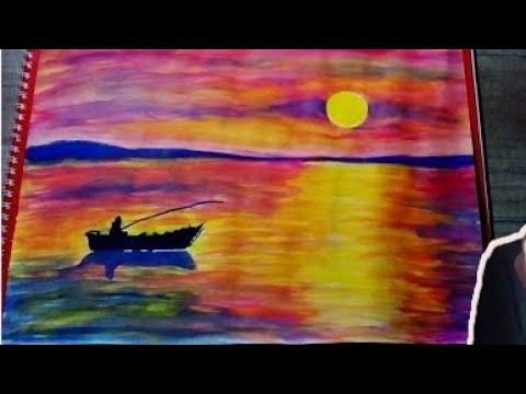 Suluboya Calismasi 6 Manzara Watercolor Youtube