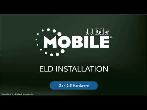 KellerMobile® 2.5 ELD Hardware Installation
