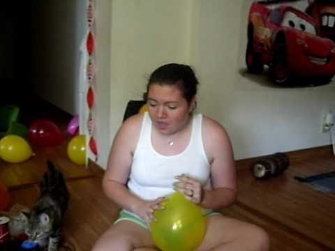 Momma and the balloon (party like a rock star)
