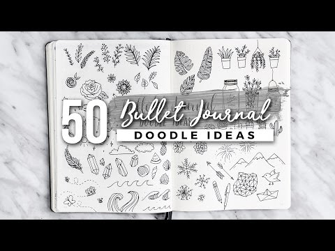 50 Bullet Journal Doodle Ideas! | The ULTIMATE Guide
