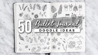 One of AmandaRachLee's most viewed videos: 50 Bullet Journal Doodle Ideas! | The ULTIMATE Guide