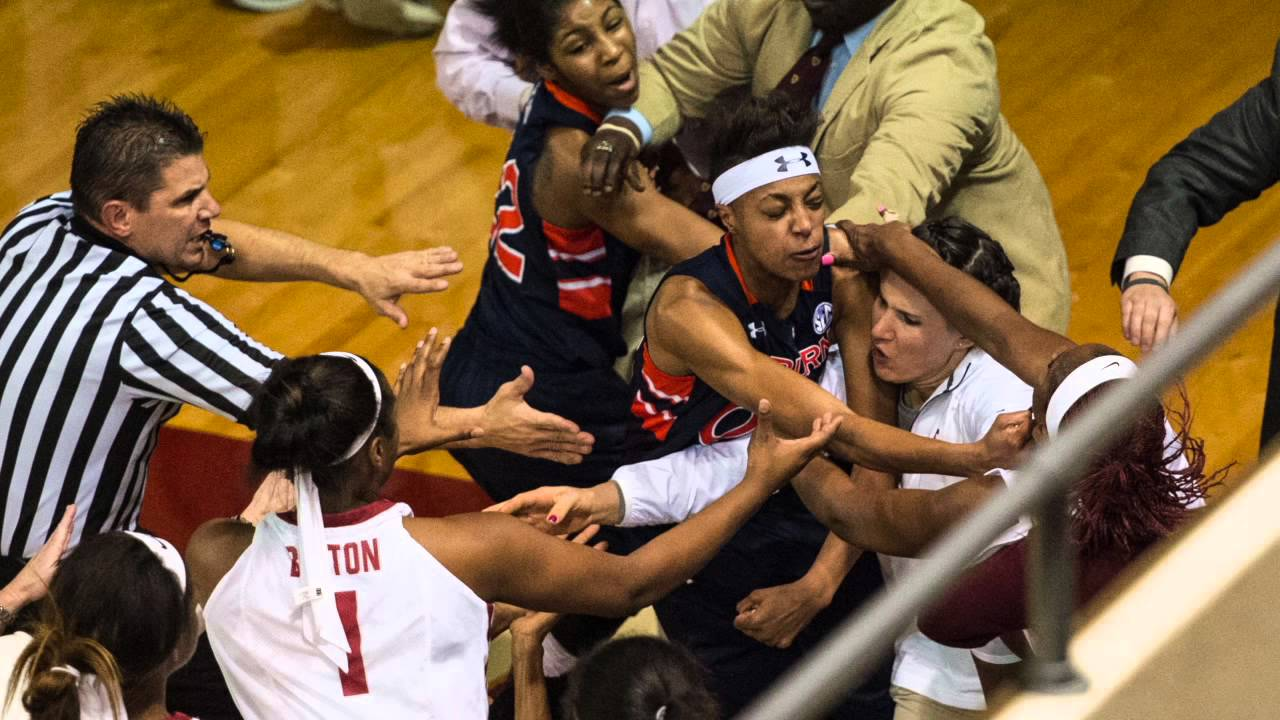 Brawl at Alabama Auburn women's basketball game leads to ...