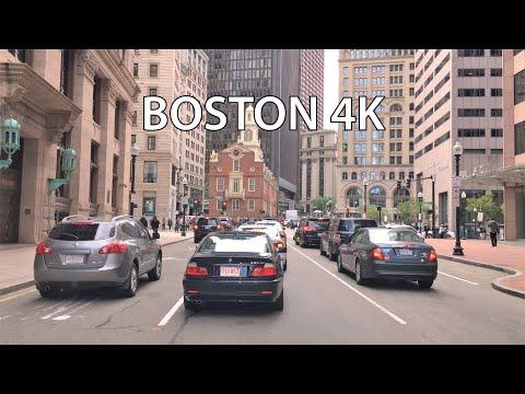 Boston 4K - Skyscraper District Drive - USA