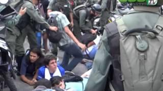Jovenes Detenidos en Parque Cristal por protestar Caracas 14 de Mayo