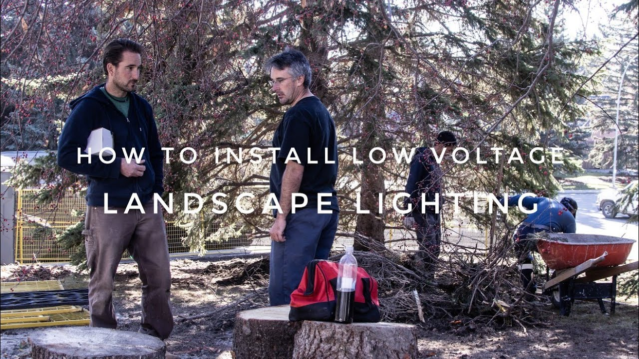 How To Install Low Voltage Landscape Lighting Tips Youtube Wiring Lights