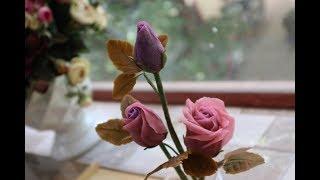 Cách làm hoa hồng từ bean craft hoa đậu cán ( Rose by Bean Craft )
