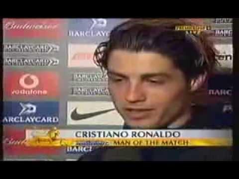 Cristiano Ronaldo first flash interview in English