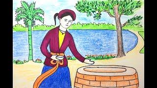 Vẽ tranh đề tài - minh họa truyện cổ tích - Tấm Cám