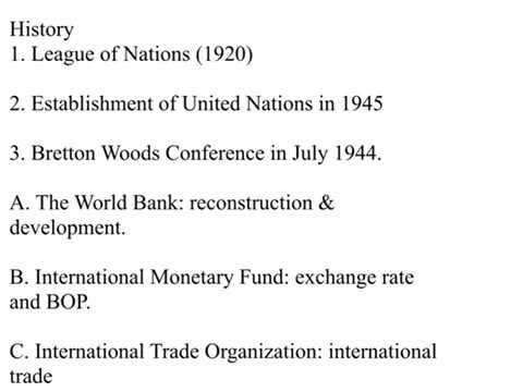World Trade Organization - 1