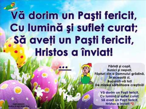 PAȘTI FERICIT! – Cantece pentru copii in limba romana