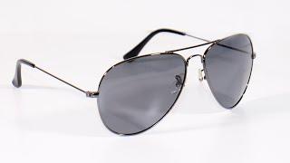 BARCUR Kacamata Frame Aviator Polarized Sunglasses UV400 - P0917 - Black-Silver