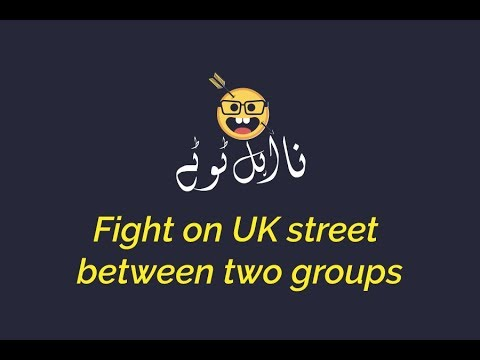 Fight on UK street between two groups