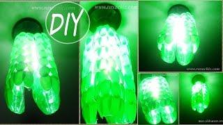 ✂DIY - Como Fazer Luminária Feita de Garrafa Pet e Colheres Descartáveis #Lustre02