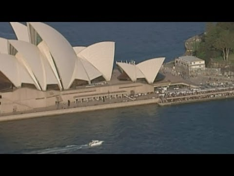 Man rescued by police after climbing Sydney Opera House sail