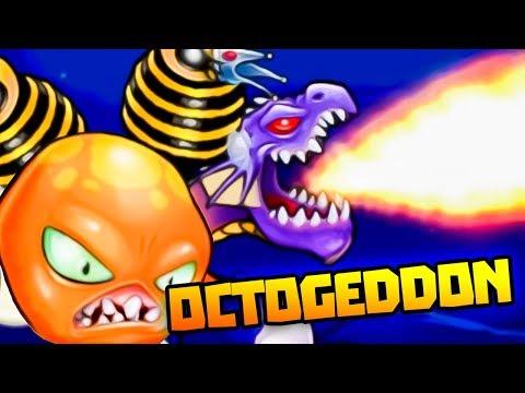 GIANT DRAGON TENTACLE IN ENDLESS OCEAN! - Octogeddon Gameplay