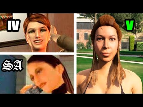 HOW GIRLFRIENDS #2 Have CHANGED In GTA GAMES 2004-2019 (Evolution)