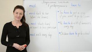 Модальные глаголы MUST и HAVE TO: разница в значении.