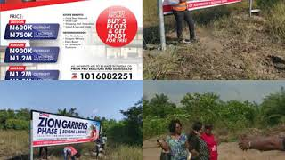 Real Estate Investment Opportunity In Lagos.    ZION GARDENS PHASE 1 SCHEME 2 ESTATE