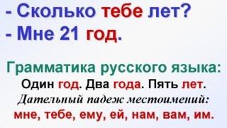 Дательный падеж личных местоимений. Грамматика русского языка для начинающих.