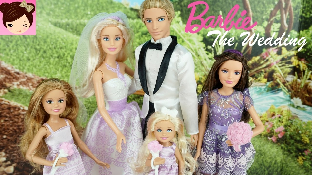 Barbie and Ken get Married - Doll Stories - Barbie Wedding ...
