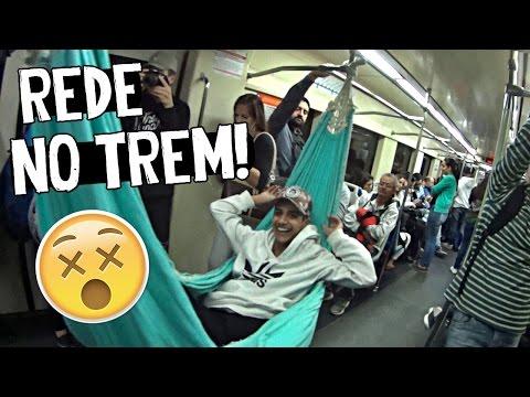 AMARRANDO REDE NO TREM LOTADO!! #RESPONDAGABRIEL26