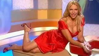 Sonya Kraus sexy red hot dress