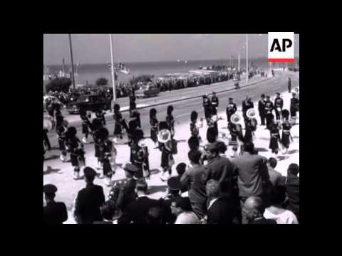 DUKE OF GLOUCESTER IN ATHENS UNVEILING MEMORIAL - NO SOUND