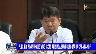 Publiko, pinayuhang 'wag iboto ang mga sumusuporta sa CPP-NPA-NDF.
