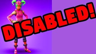 Zoey Skin Locked Explained Disabled Fortnite Battle Royale