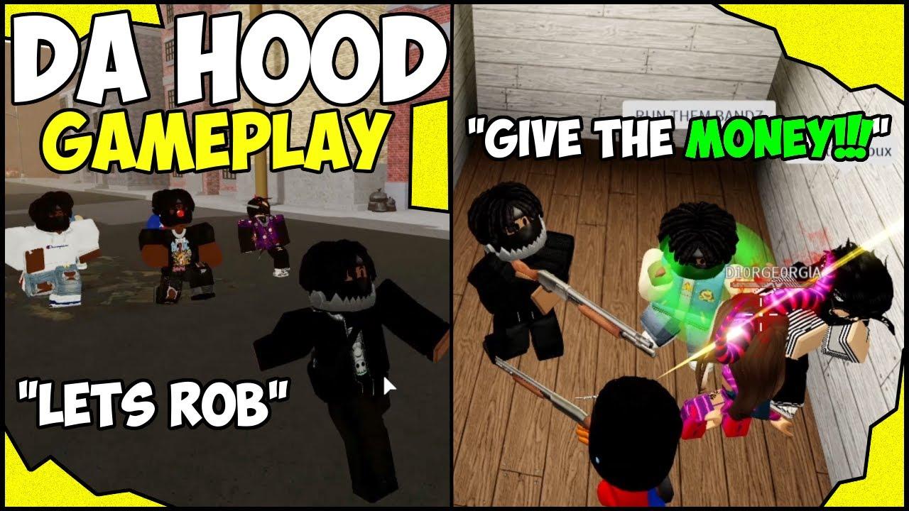 Download ROBBING PEOPLE IN DA HOOD!!! (ROBLOX) 💰🤑